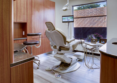 dental chair exam room